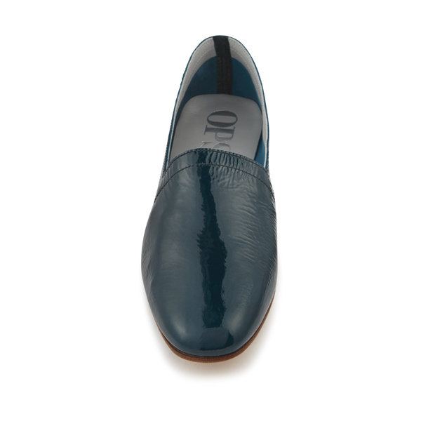 Ops&Ops No10 Teal Patent Flats