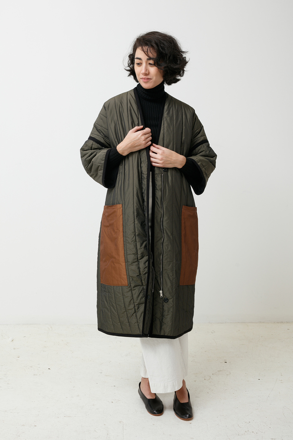 Mr. Larkin Ingrid Quilted Coat - chocolate