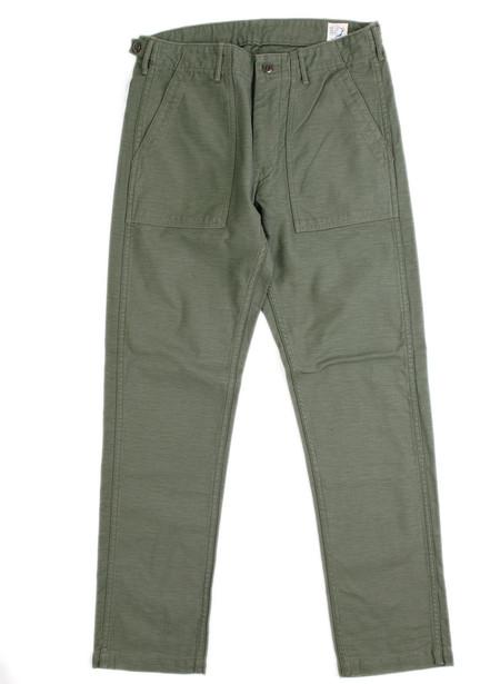 Men's Orslow Slim Fit Fatigue Pants Green
