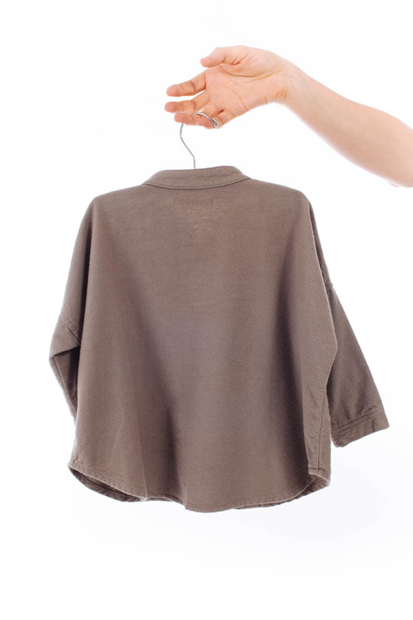 Black Crane Kids Square Shirt (Cement)