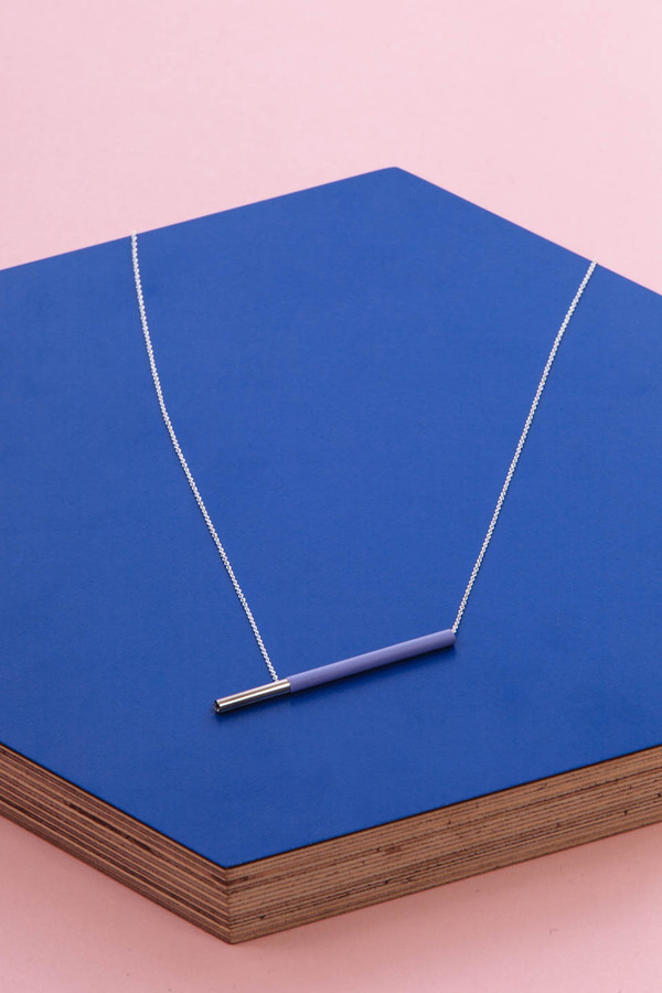 Faux/Real Pocky Necklace (Lavender)