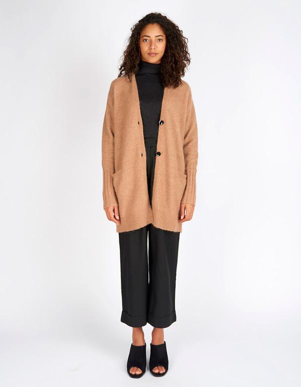 Filippa K Cozy Wool Cardi Nougat Melange