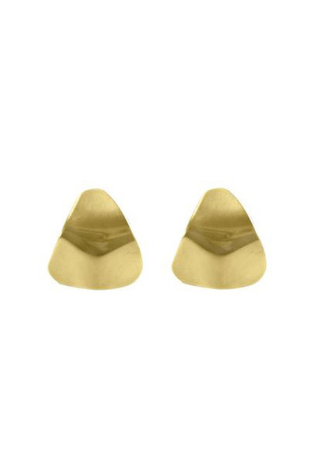 Young Frankk Trine Earrings, Gold Plated