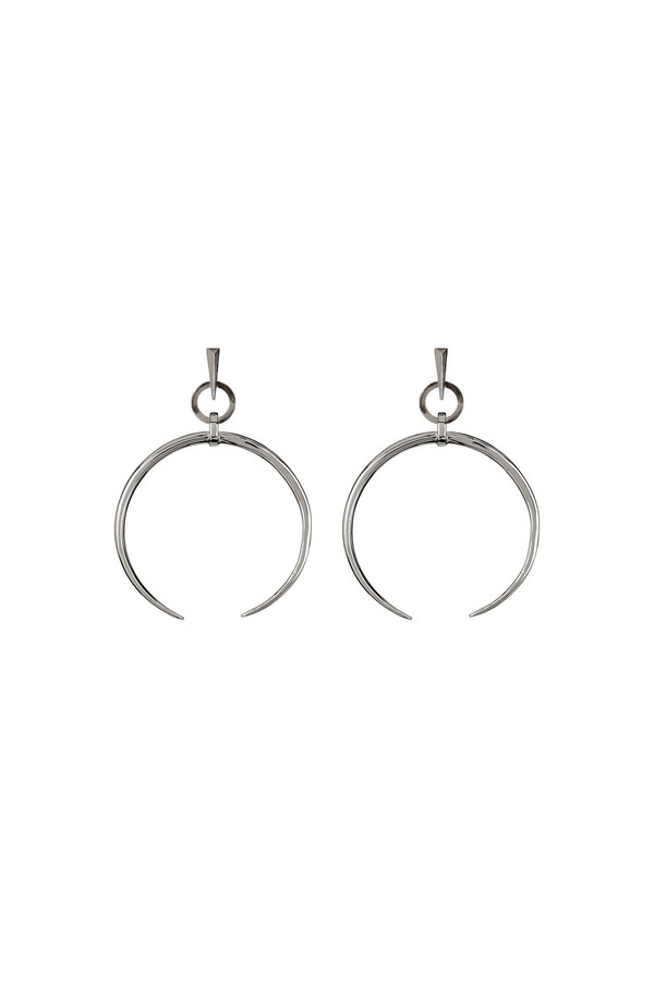 Luv Aj Oversized Crescent Hoops in Silver