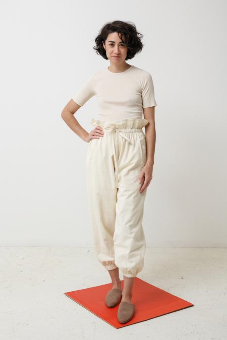 Lauren Manoogian Lantern Pants - bone