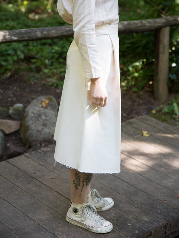 Sunja Link Natural Canvas Skirt
