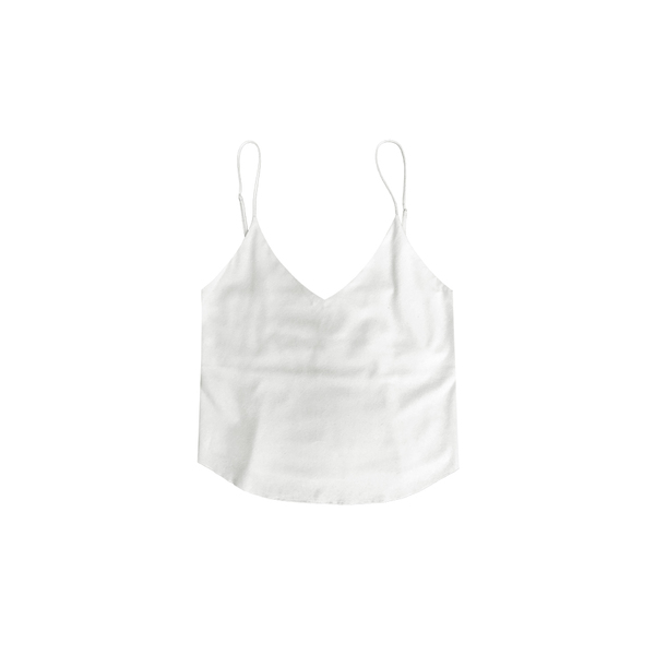 Ozma RAW SILK CAMISOLE - CREAM