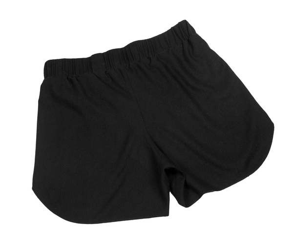 Devlyn van Loon Black Raw Silk Overlay Short