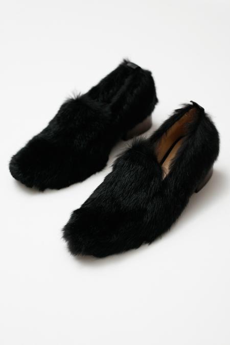 Mari Giudicelli Gavea Loafer - black fur