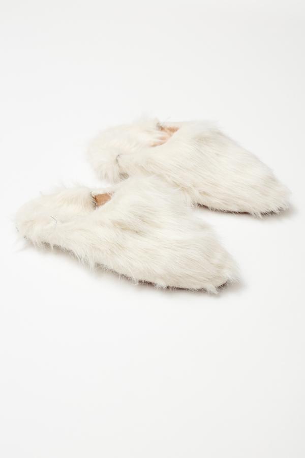 Bronze Age Yoon Plush Babouche - halo white