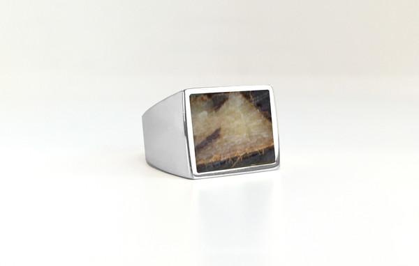 Legier Dragonstone (Septarian) Stone Signet Ring
