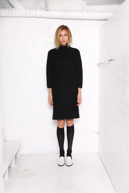 Intentionally Blank ANGLES Sweater Dress BLACK