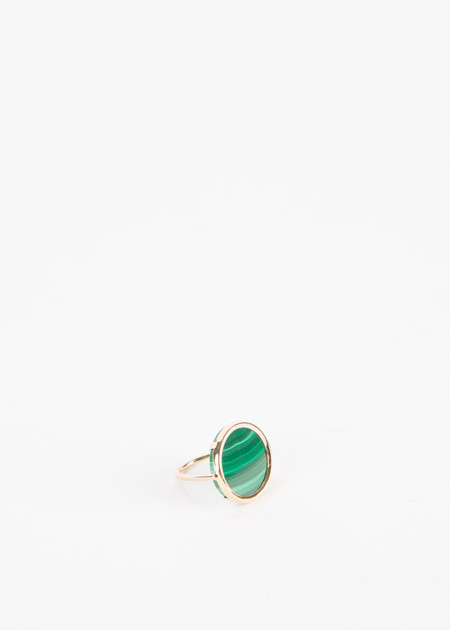Ginette NY Ever Malachite Disc Ring