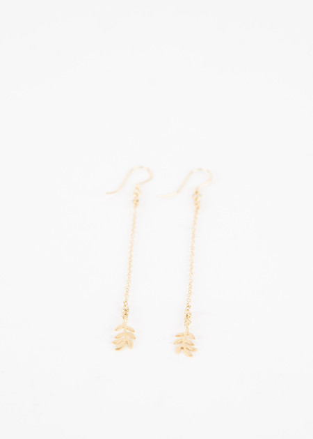 5 Octobre Long Leaf Earrings