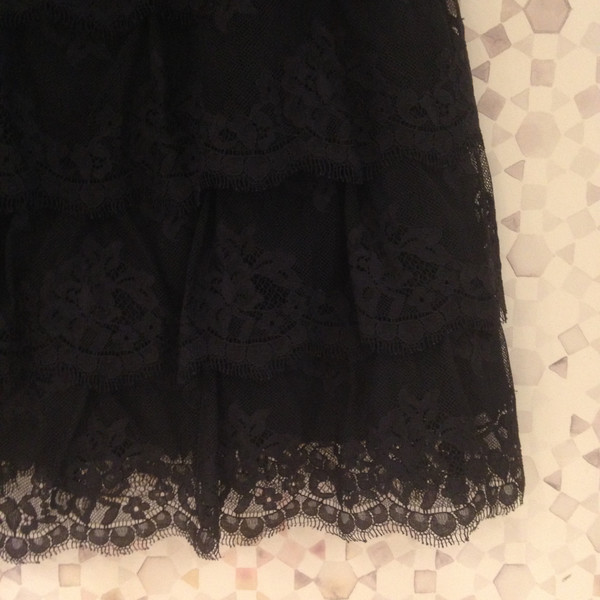 Darling Vintage Betsey Johnson Black Lace Cocktail Dress