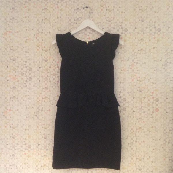 Darling Vintage Vintage Sandro Black Cocktail Cap Sleeve Dress