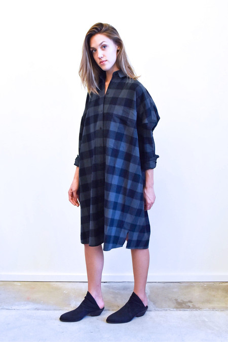 Creatures of Comfort Johnson Dress in Plaid
