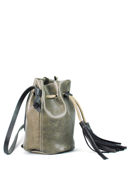 Eleven Thirty Christie Mini Bucket Bag Steel