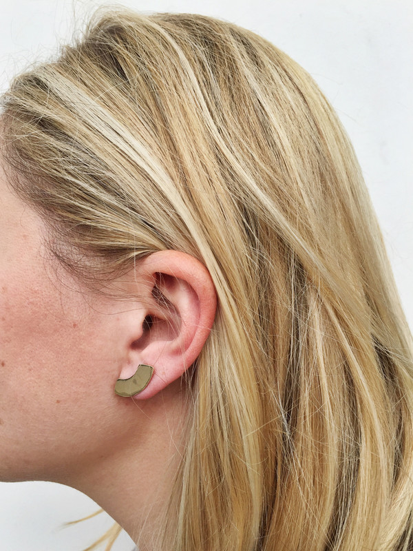 Erin Considine Arc Studs in Sterling Silver