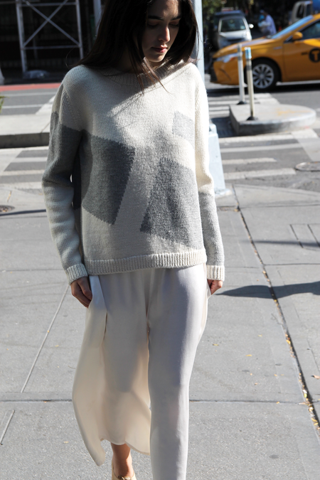 DUO NYC x DUSEN DUSEN | GRAY BLOCKS SWEATER