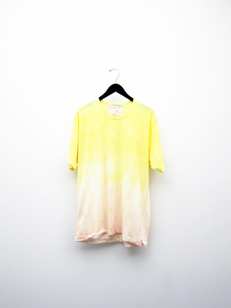 Unisex Audrey Louise Reynolds T-Shirt, 1/2 Yellow 1/2 Peach