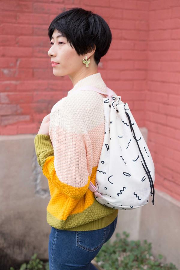 Hannah Isolde Goodman Aly Backpack (White)