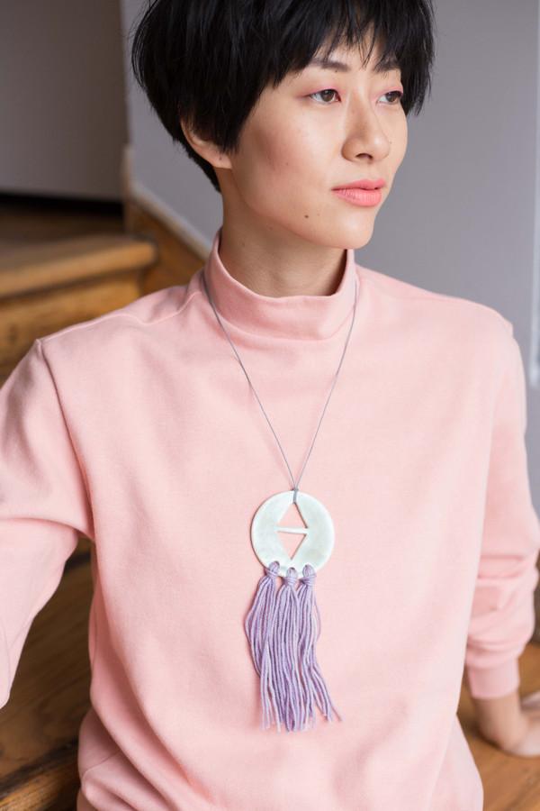 InDreams In Dreams Ceramic Necklace (Sea Green and Purple)
