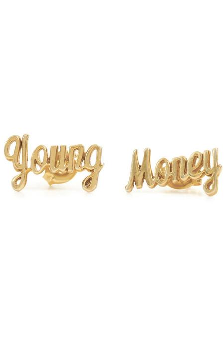 Bing Bang NYC Young Money Stud Earrings