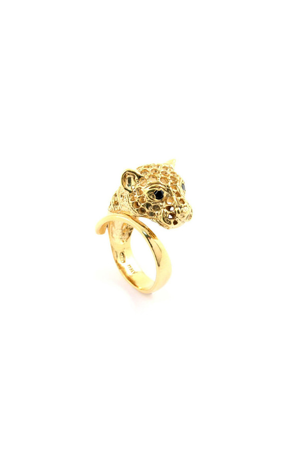 Iosselliani Gold Panther Ring