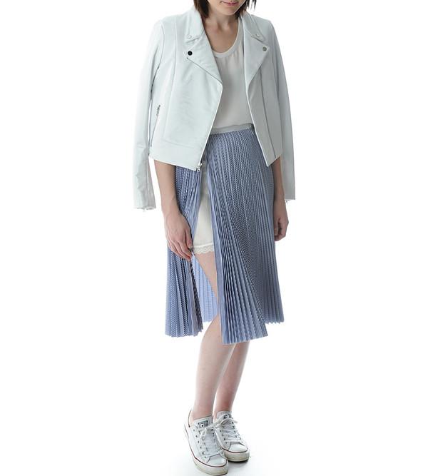 Sacai Luck Blue Stripe Pleated Skirt