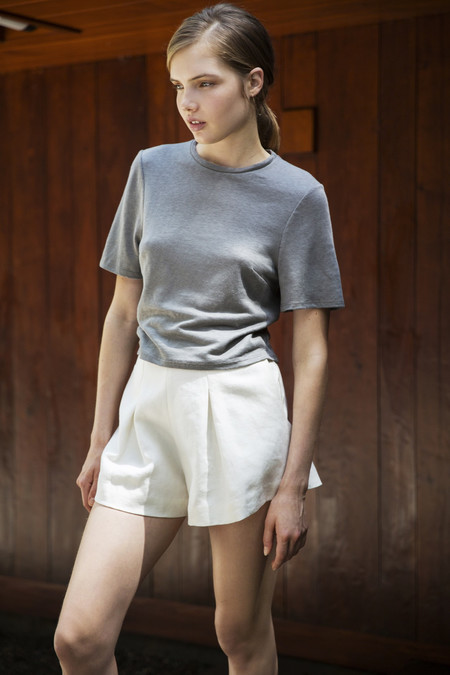 UNIFORME Heath High Waisted Shorts - Belgian Linen Twill