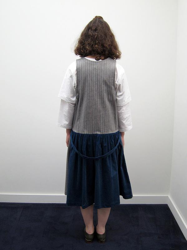 Rowena Sartin Two Faced Jumper Dress w/Back Waist Loop