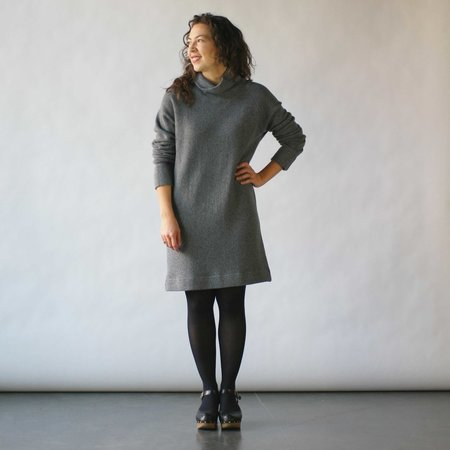 Curator Tempest Sweater Dress in Grey