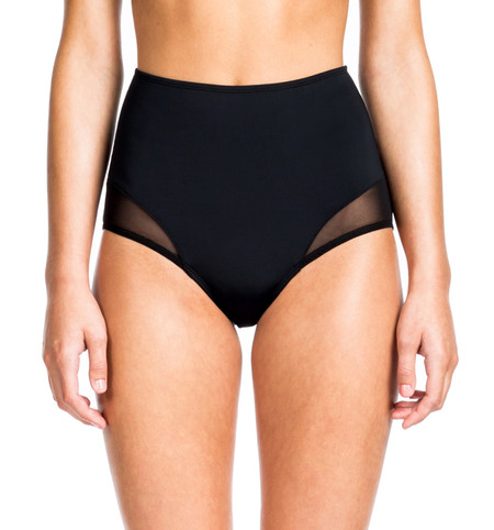 Beth Richards High Waist Bottom - Black Mesh HIGH WAISTED BOTTOM