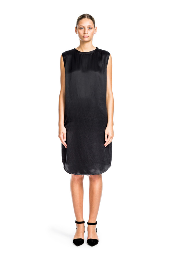 Beth Richards Silk Pilar Dress - Black
