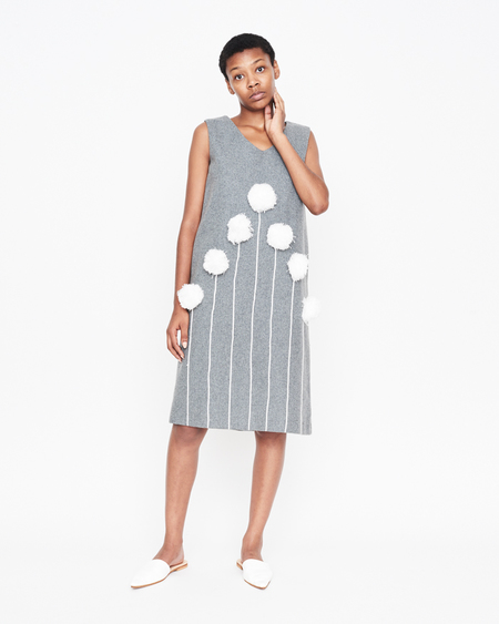 William Okpo POM-POM JERSEY DRESS