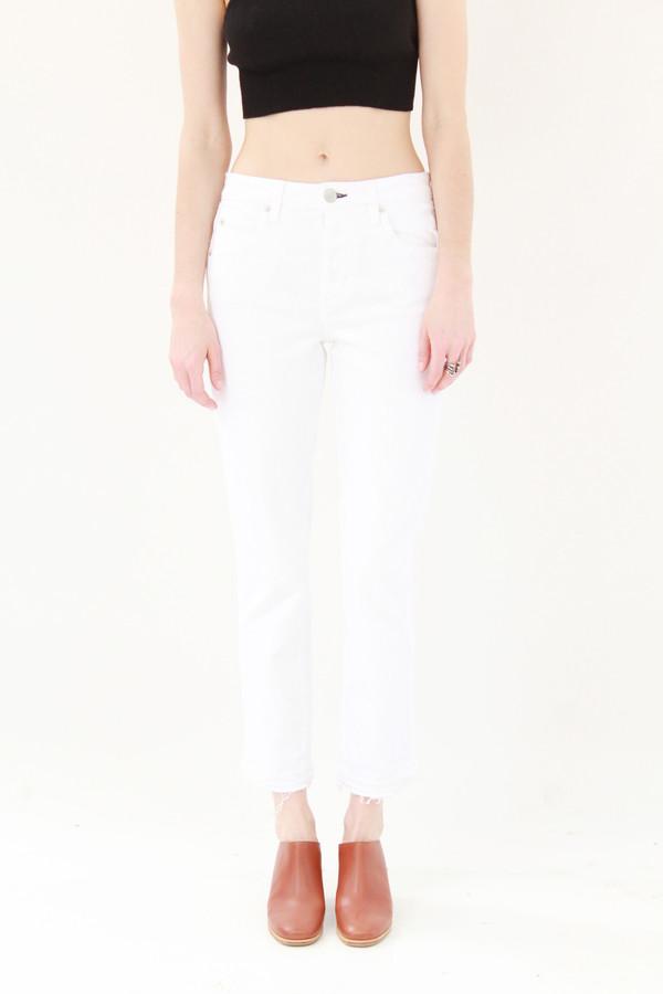 Amo Denim Babe Cropped Sea Salt White Jeans