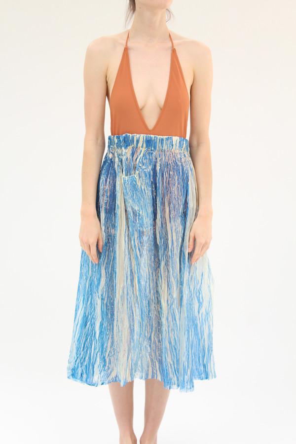 Anntian Crinkle Skirt Blue
