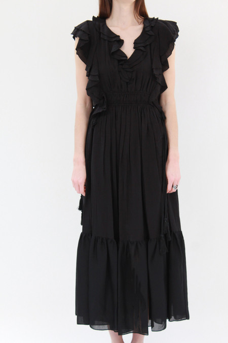 Apiece Apart Rafaela Maxi Dress Black