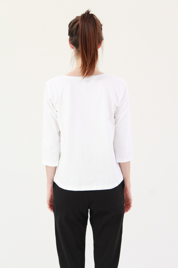 Kowtow Building Block Boatneck Top White