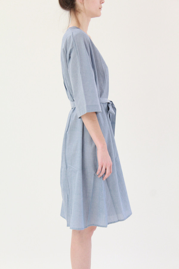 Kowtow Domus Shirt Dress Blue Chambray