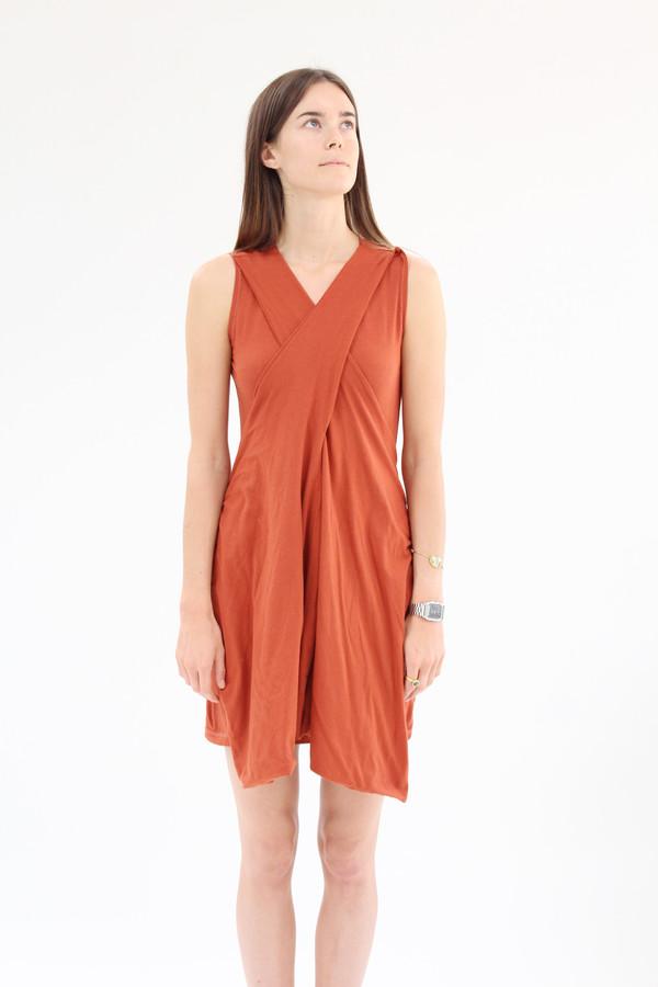 Beklina Criss Cross Jersey Wrap Dress Terra Cotta