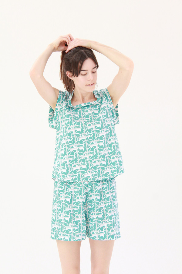 Beklina Organic Cotton PJ Set Collage Print