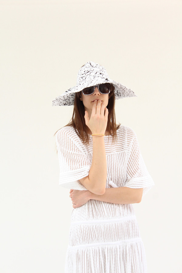 Lina Rennell Topless Wide Hat Post Print
