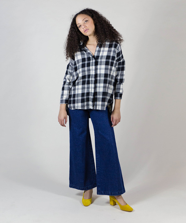 Esby Plaid Stella Button Down