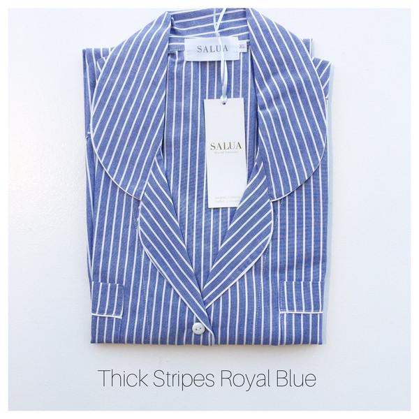 Salua Classic Cotton Pajama in Mediterranean Stripes