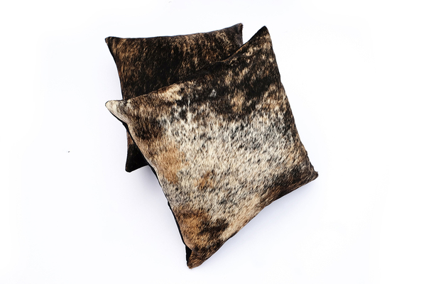 Primecut Brown Cowhide Brindle Pillow