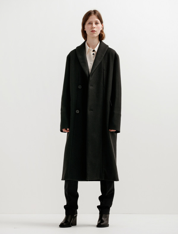 Lemaire Womens Kaftan Coat - Charcoal
