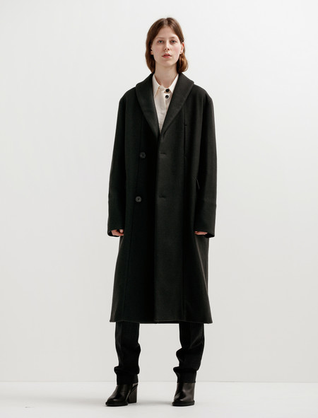 Lemaire Womens Kaftan Coat - Charcoal