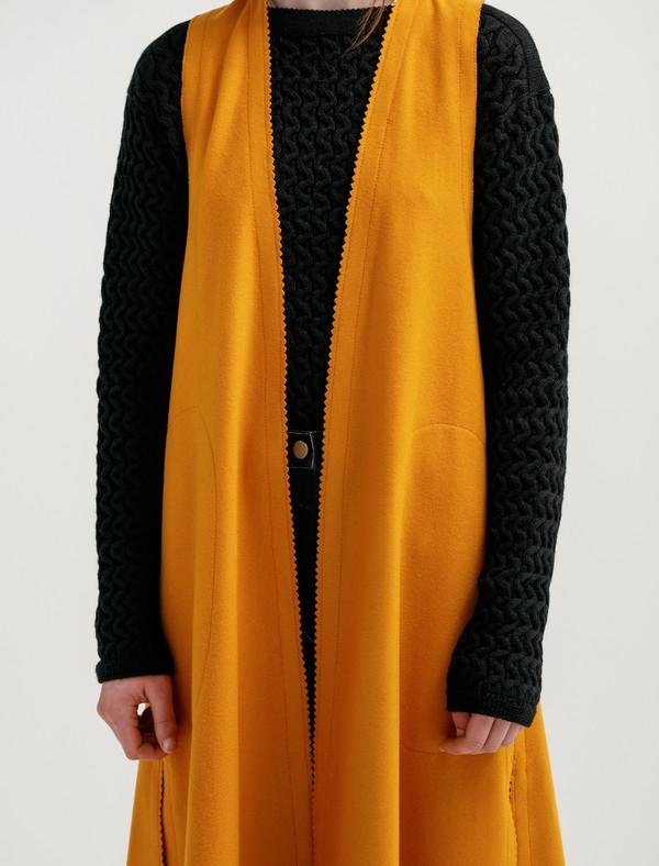 Lemaire Womens Sleeveless Wrapover Dress Saffron